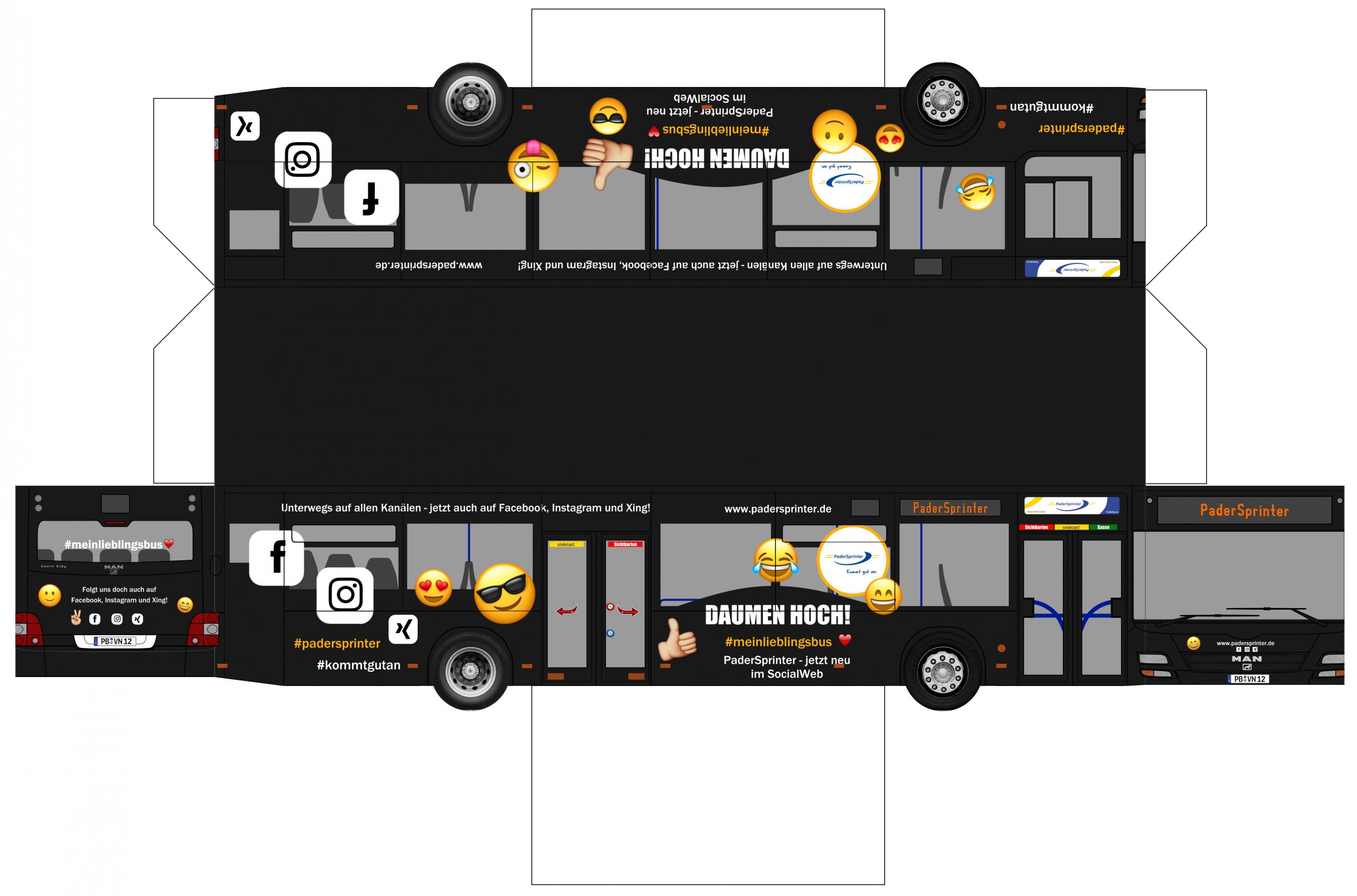 Material Gegen Langeweile Für Kids – Padersprinter bei Bastelvorlage Bus