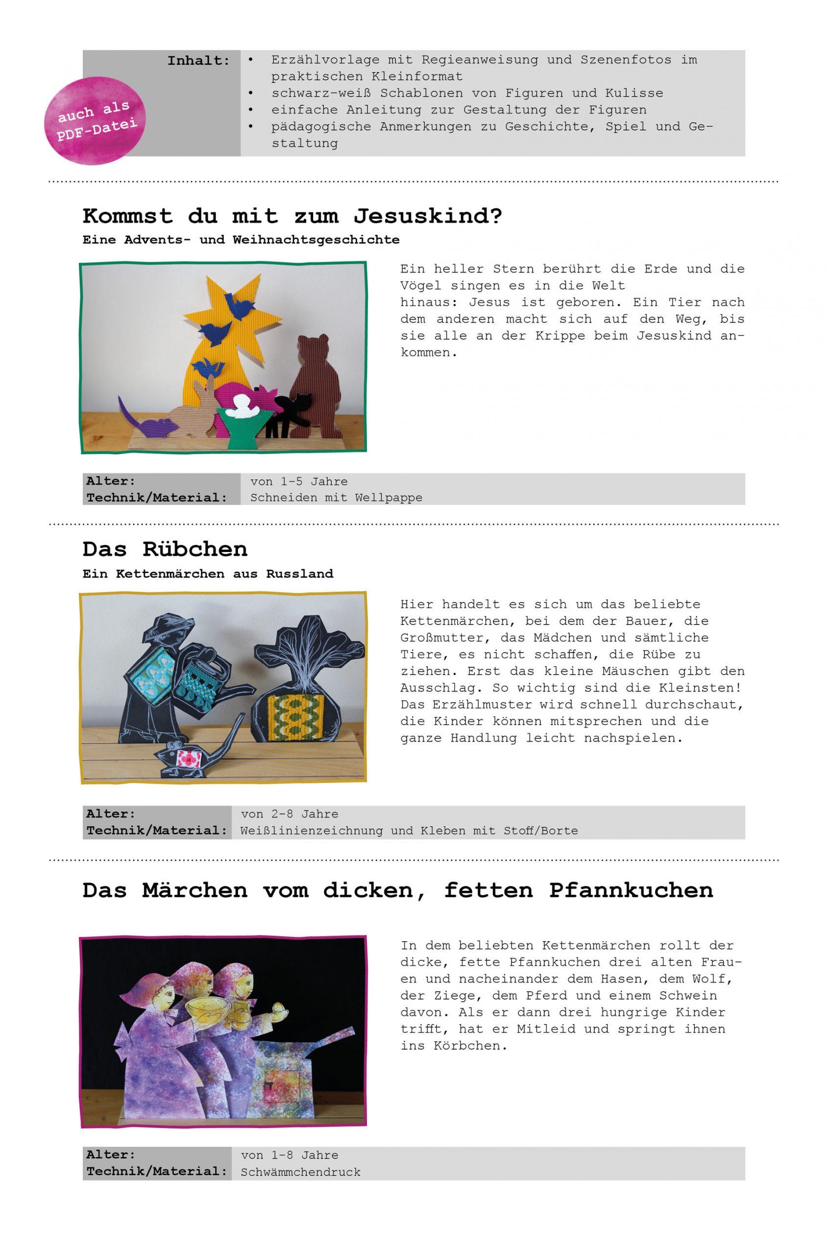 Material Zur Erzählschiene - Gabi Scherzer: Bilder, Seminare mit Weihnachtsgeschichte Für Kindergartenkinder Zum Nachspielen