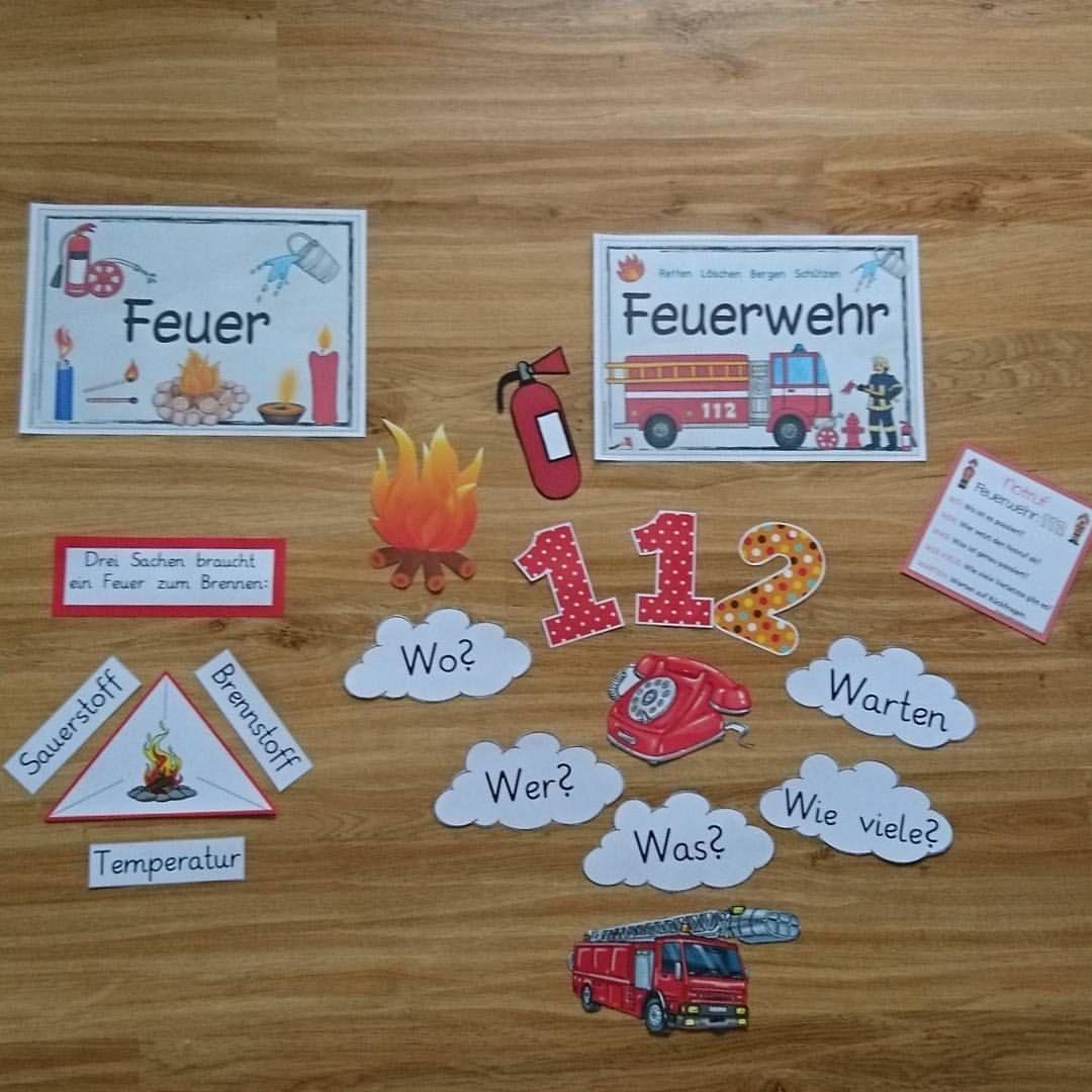 Materialien Für Die Sachunterrichtswand Zum Thema Feuer Und innen Thema Feuerwehr Im Kindergarten Basteln