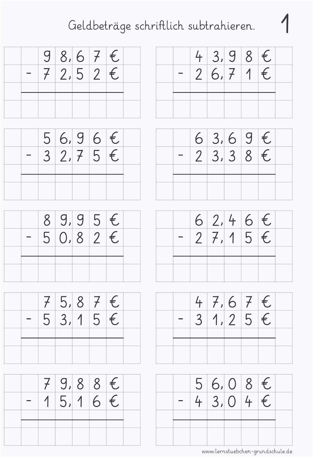 Mathe Arbeitsblatter Klasse 4 Kostenlos Zum Ausdrucken in Lernblätter Mathe
