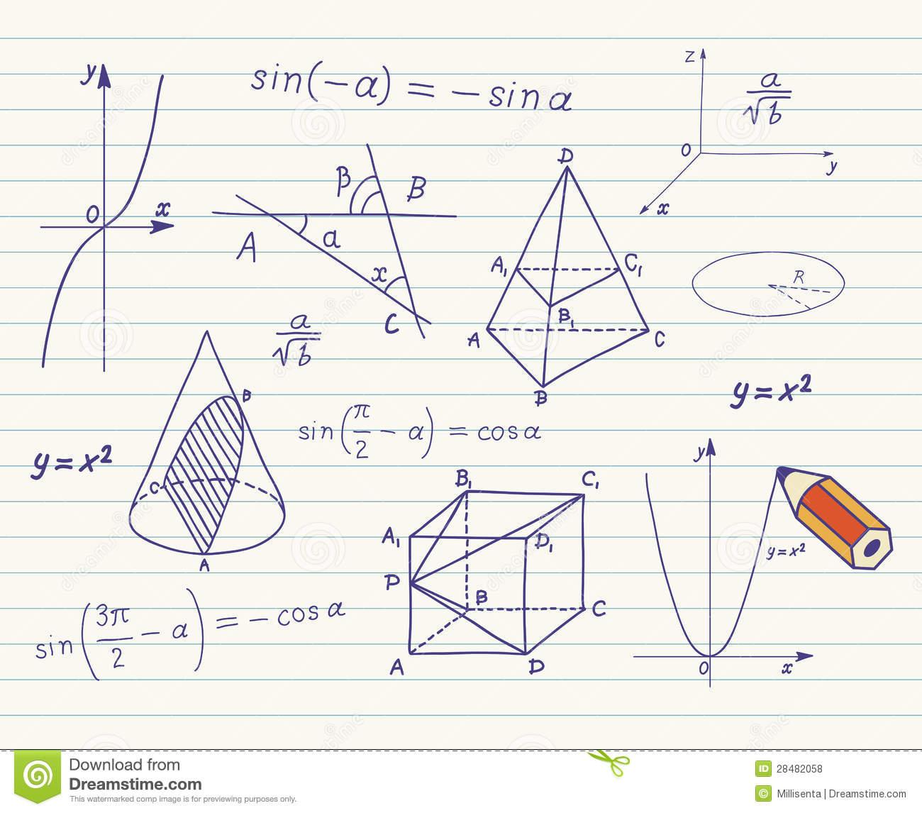 Mathematik - Geometrische Formen Und Ausdrücke Vektor innen Mathematische Formen
