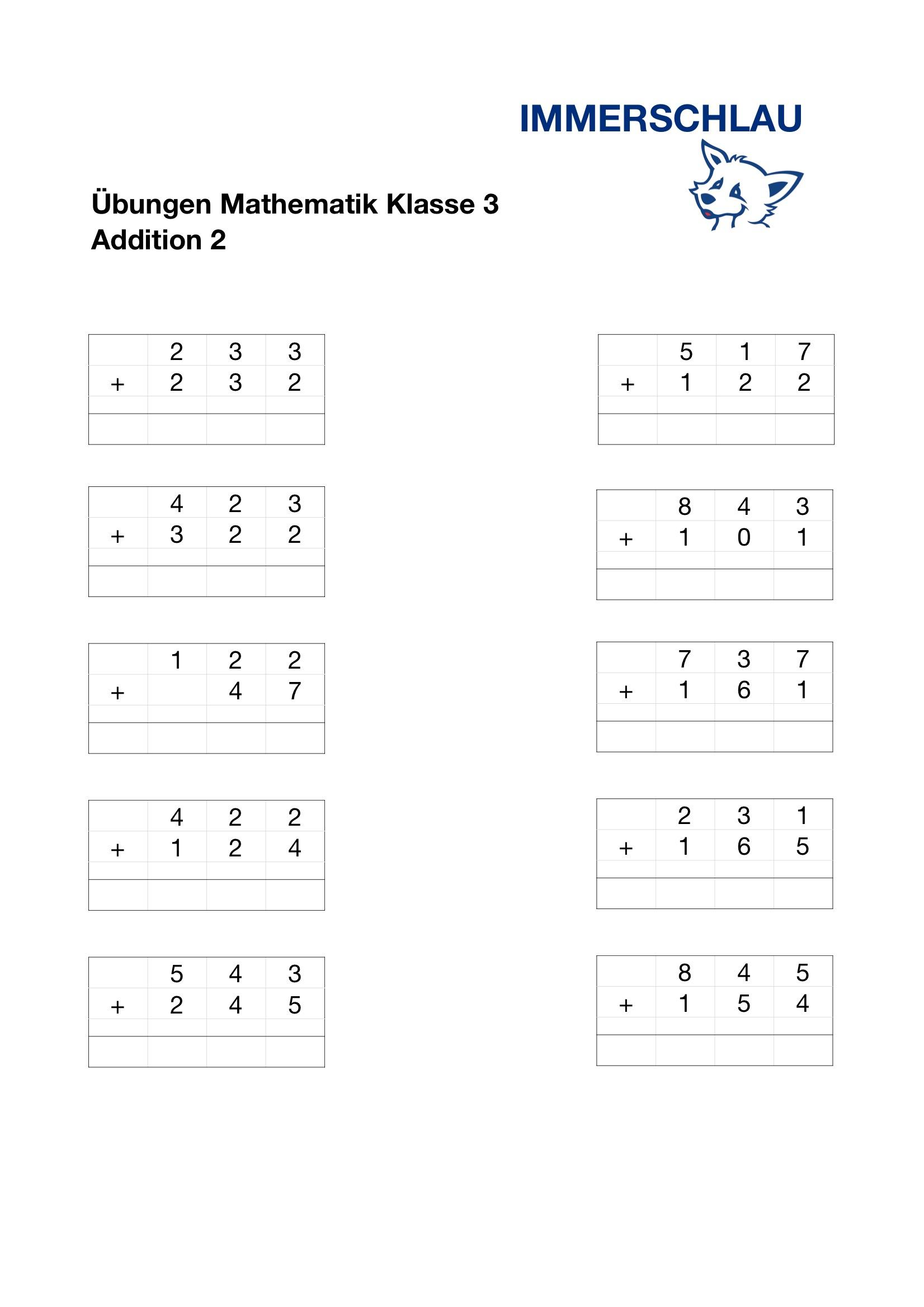 Mathematik Grundschule Arbeitsblätter – Immerschlau bei Mathematik 1 Klasse Hauptschule Arbeitsblätter