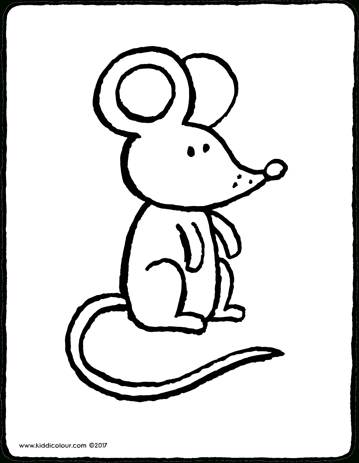 Maus - Kiddimalseite mit Ausmalbilder Die Maus