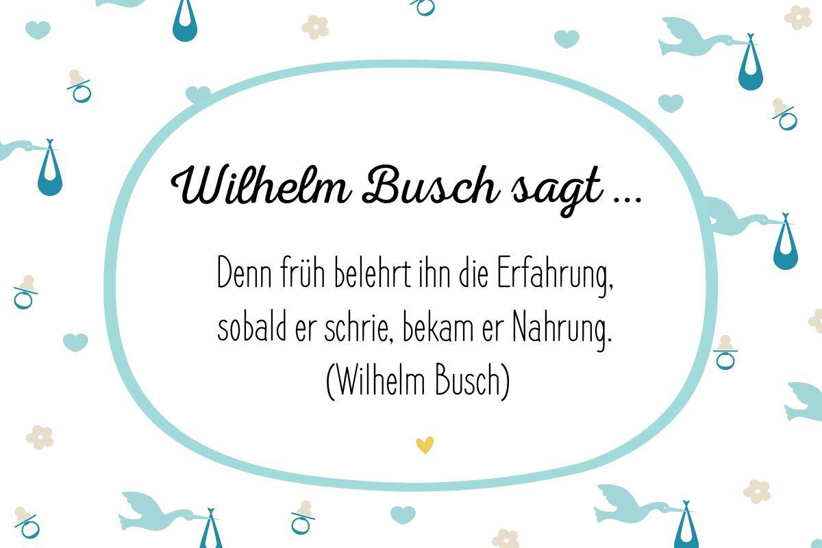 Mehr Davon! Die 40 Schönsten Glückwünsche Zur Geburt (Mit über Wilhelm Busch Geburtstag Gedicht