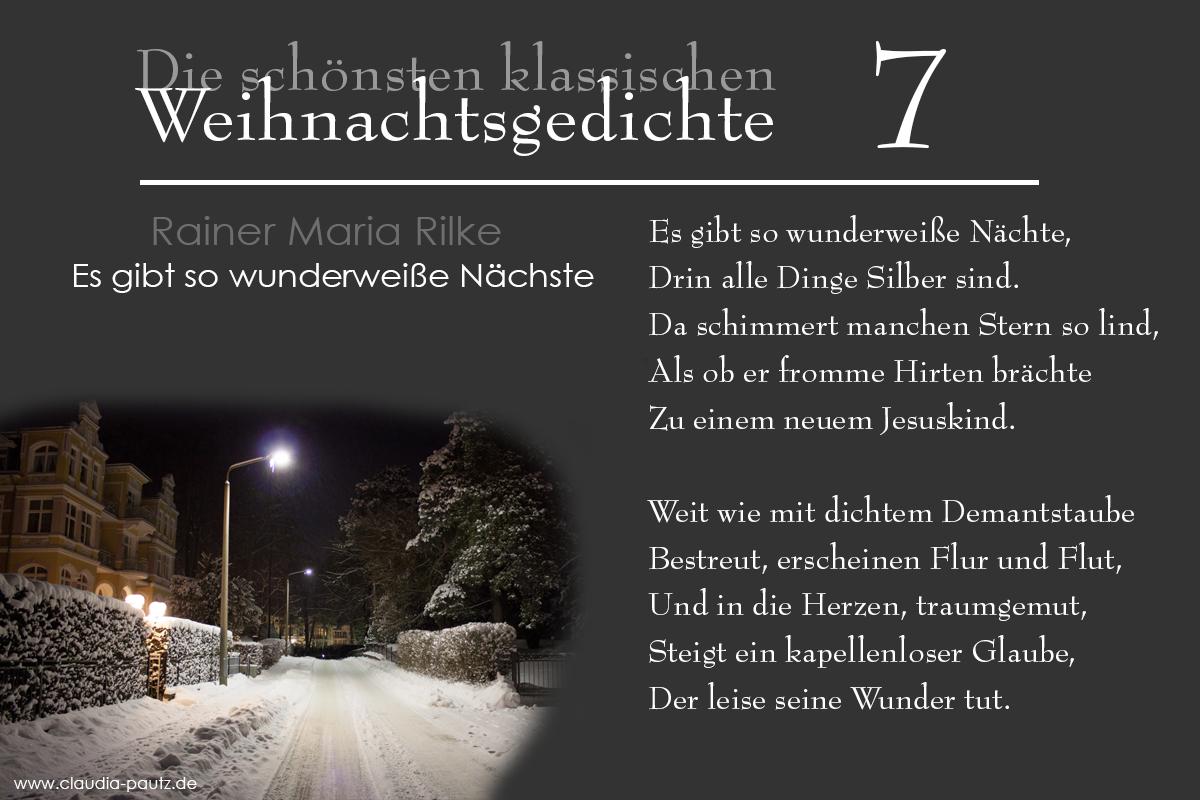 Mein Usedom : Rainer Maria Rilke - Es Gibt So Wunderweiße Nächte in Rainer Maria Rilke Weihnachtsgedichte