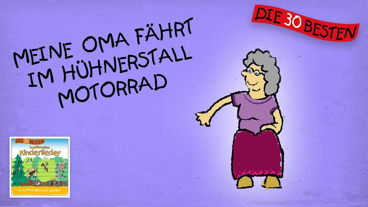 Meine Oma Fährt Im Hühnerstall Motorrad- Die Besten Partylieder ||  Kinderlieder ganzes Buch Kinderlieder Aus Der Guten Alten Zeit