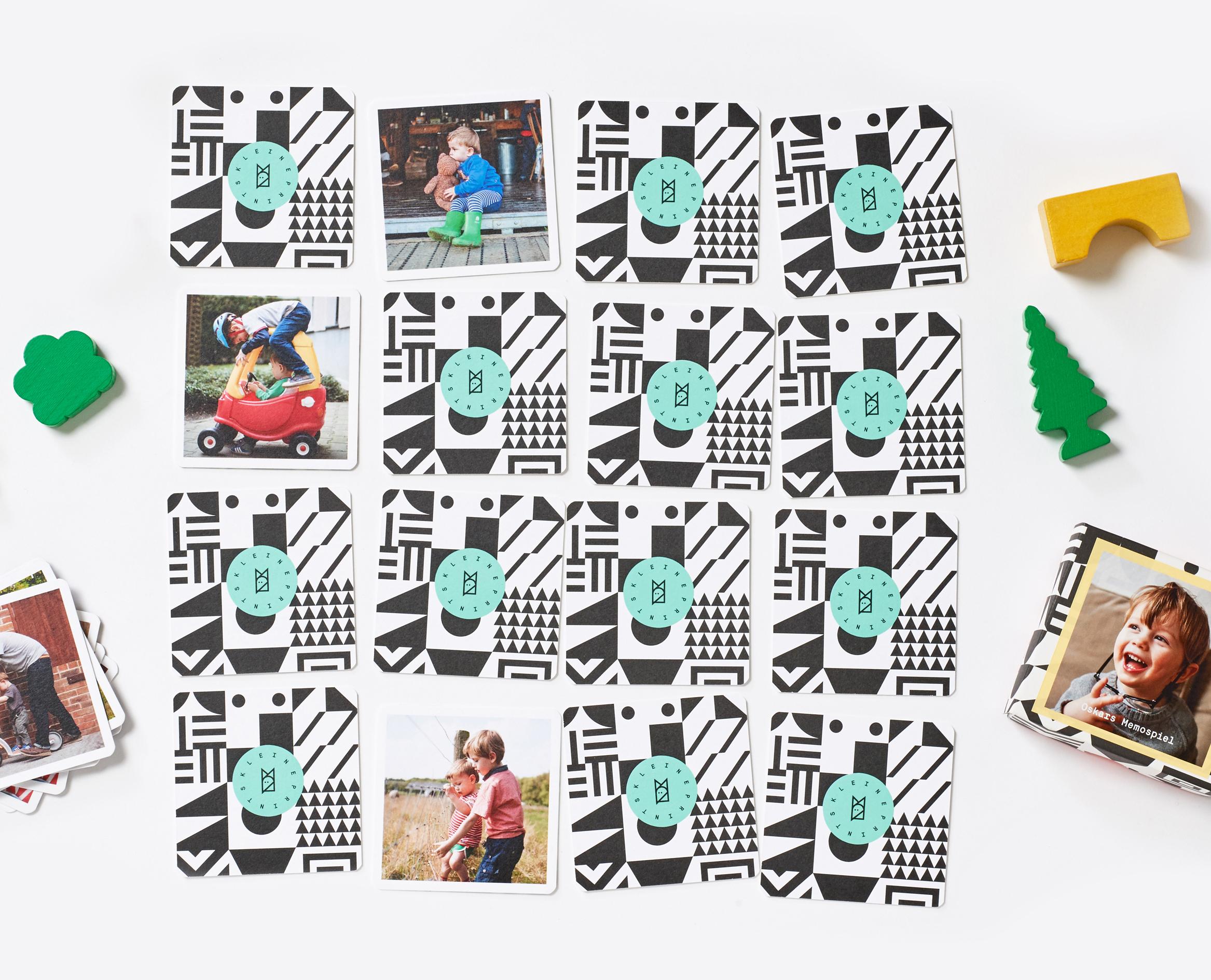 Memo Spiel Selbst Gestalten — Kleine Prints mit Memory Spiel Selbst Gestalten