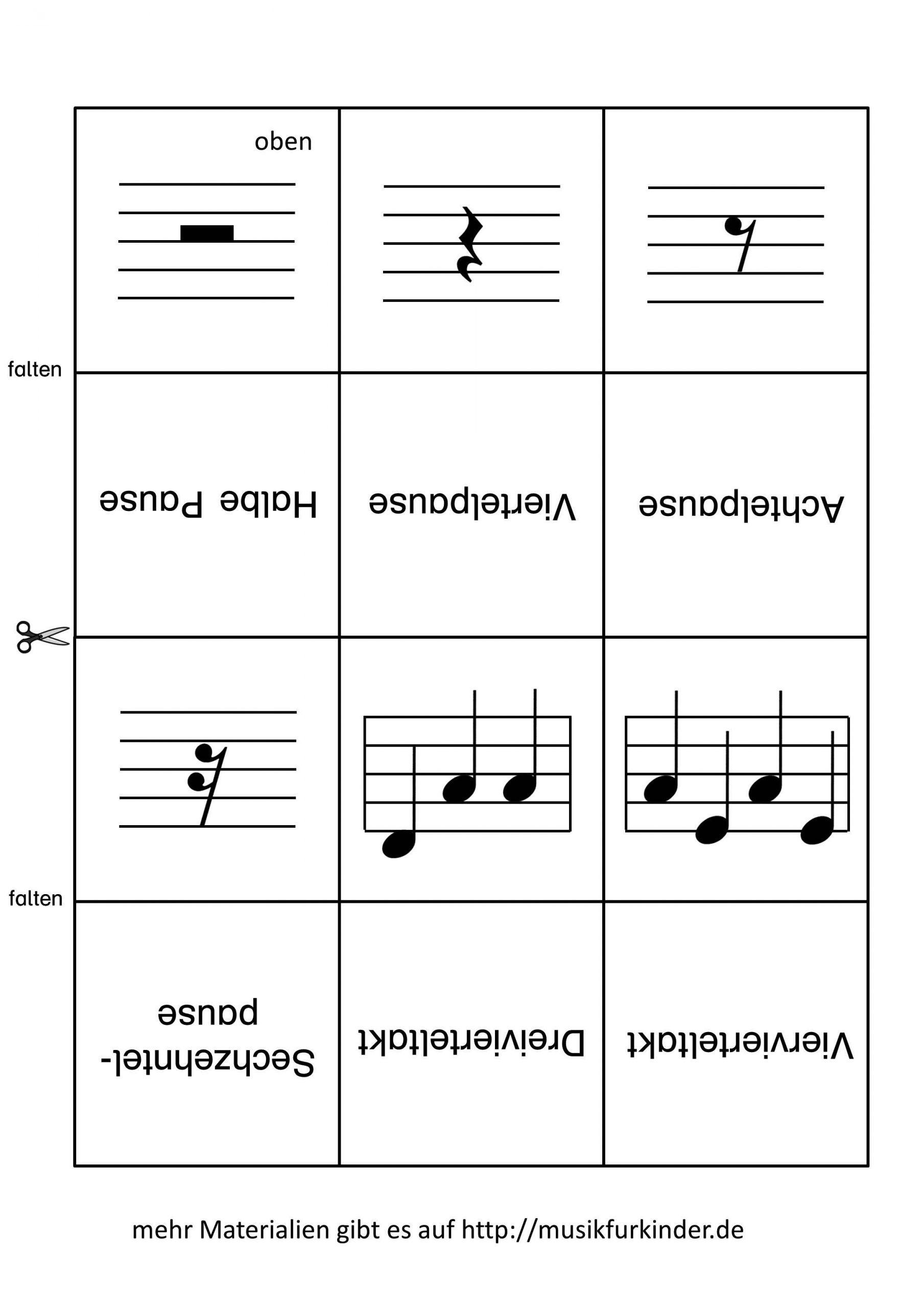 Memory / Lernkarten Notenwerte - Musik Für Kinder über Memory Für Kindergartenkinder Online
