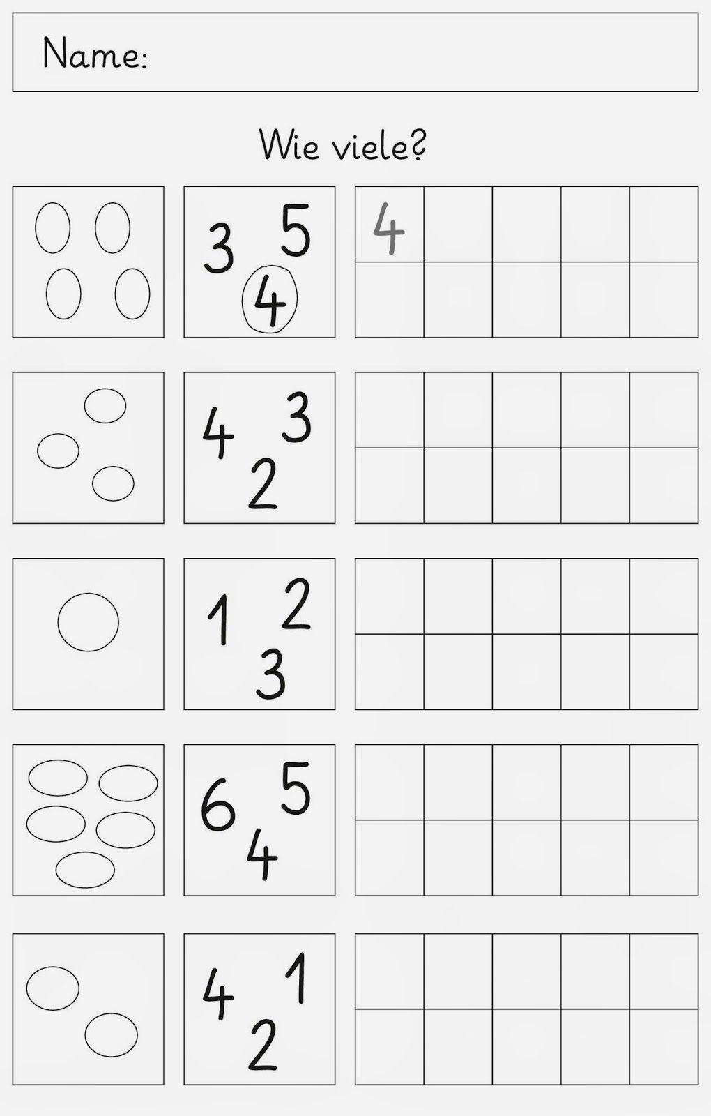 Mengen Und Zahlen Bis 6 (Mit Bildern) | Mathe Für über Sudoku Für Kindergartenkinder