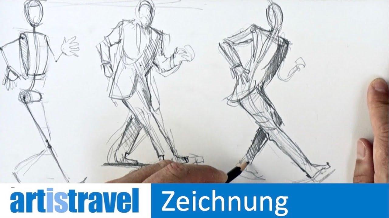 Menschen Zeichnen In Bewegung | Ganz Einfach Zeichnen Lernen bestimmt für Menschen Malen Lernen