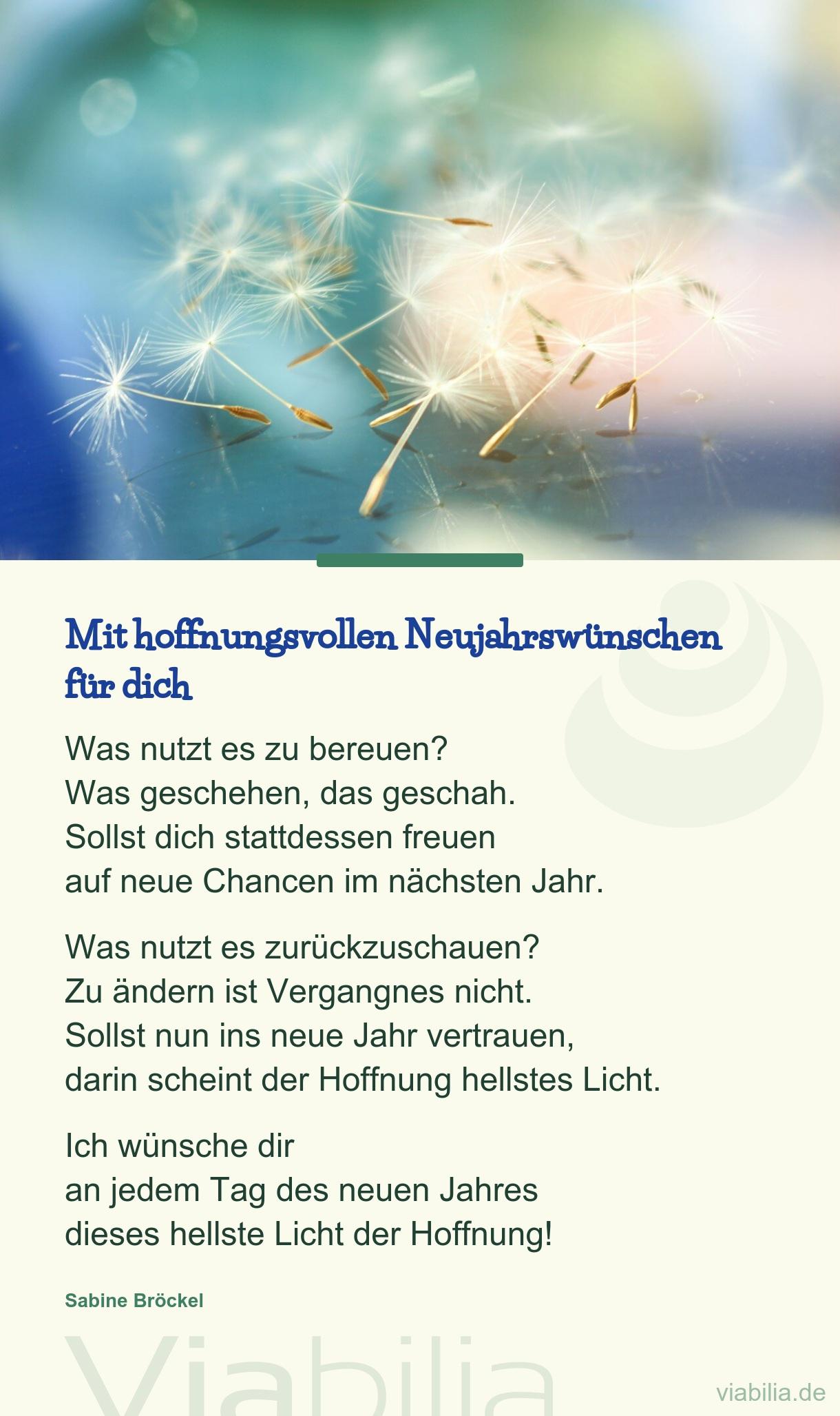 Mit Hoffnungsvollen Neujahrswünschen - Neujahrswunsch verwandt mit Neujahrsgedicht Kinder