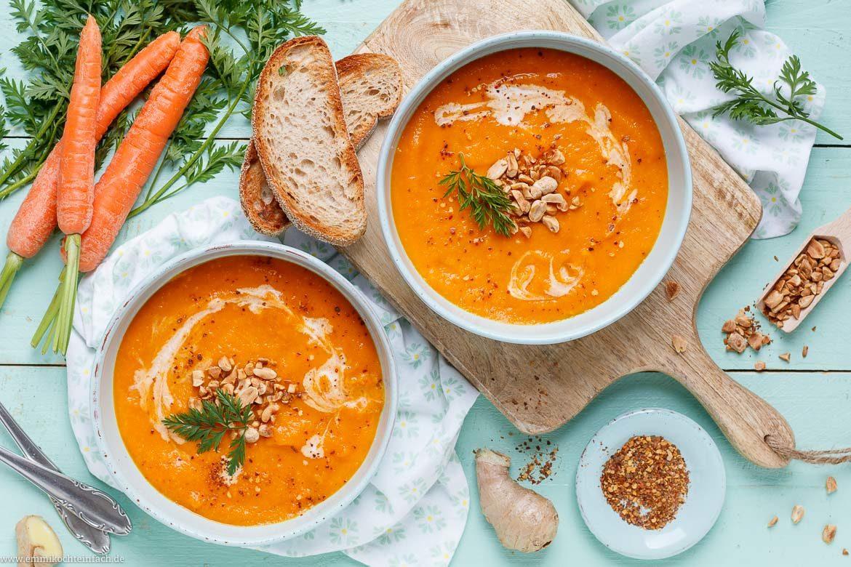 Möhren Ingwer Suppe Ganz Einfach - Emmikochteinfach ganzes Karotten Orangen Ingwer Suppe Rezept