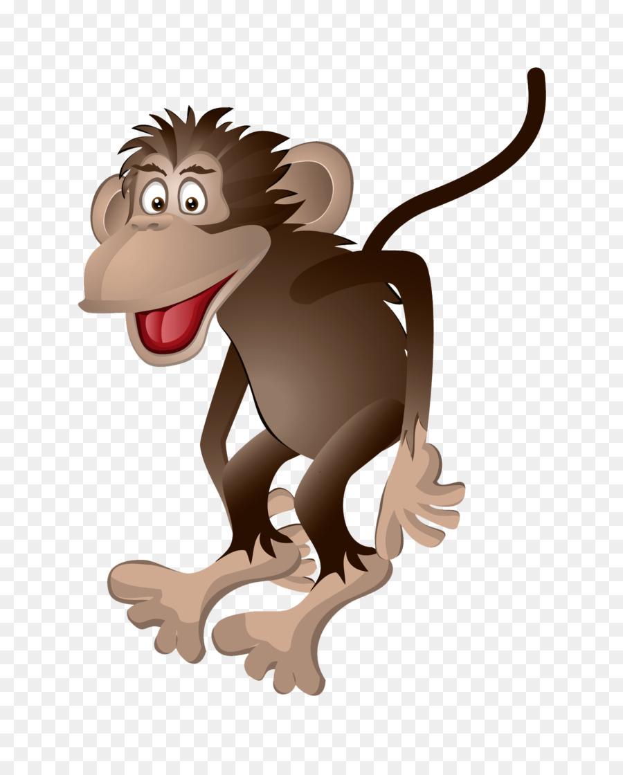 Monkey Cartoon Royalty Free Clipart - Affe Png Herunterladen in Affe De Kostenlos