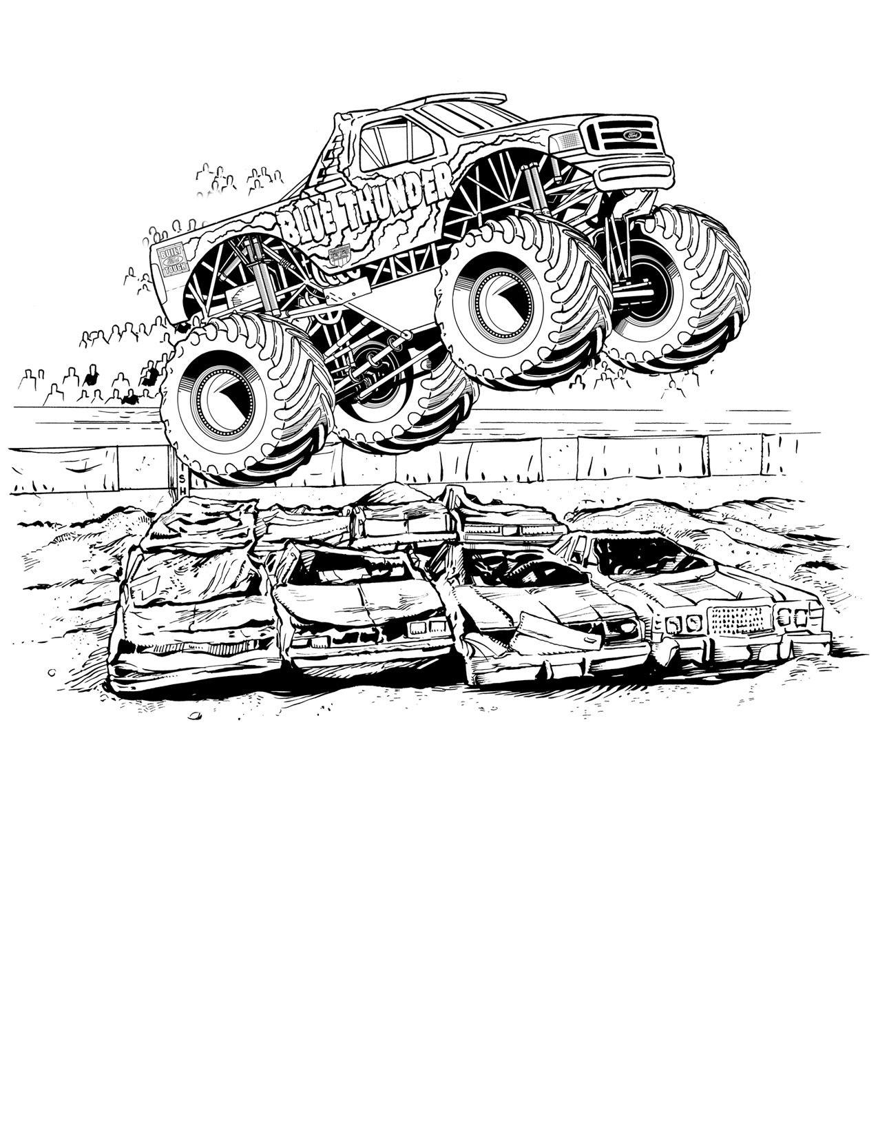 Monster Jam Coloring Pages | Ausmalen, Ausmalbilder, Bilder für Monstertruck Malvorlage