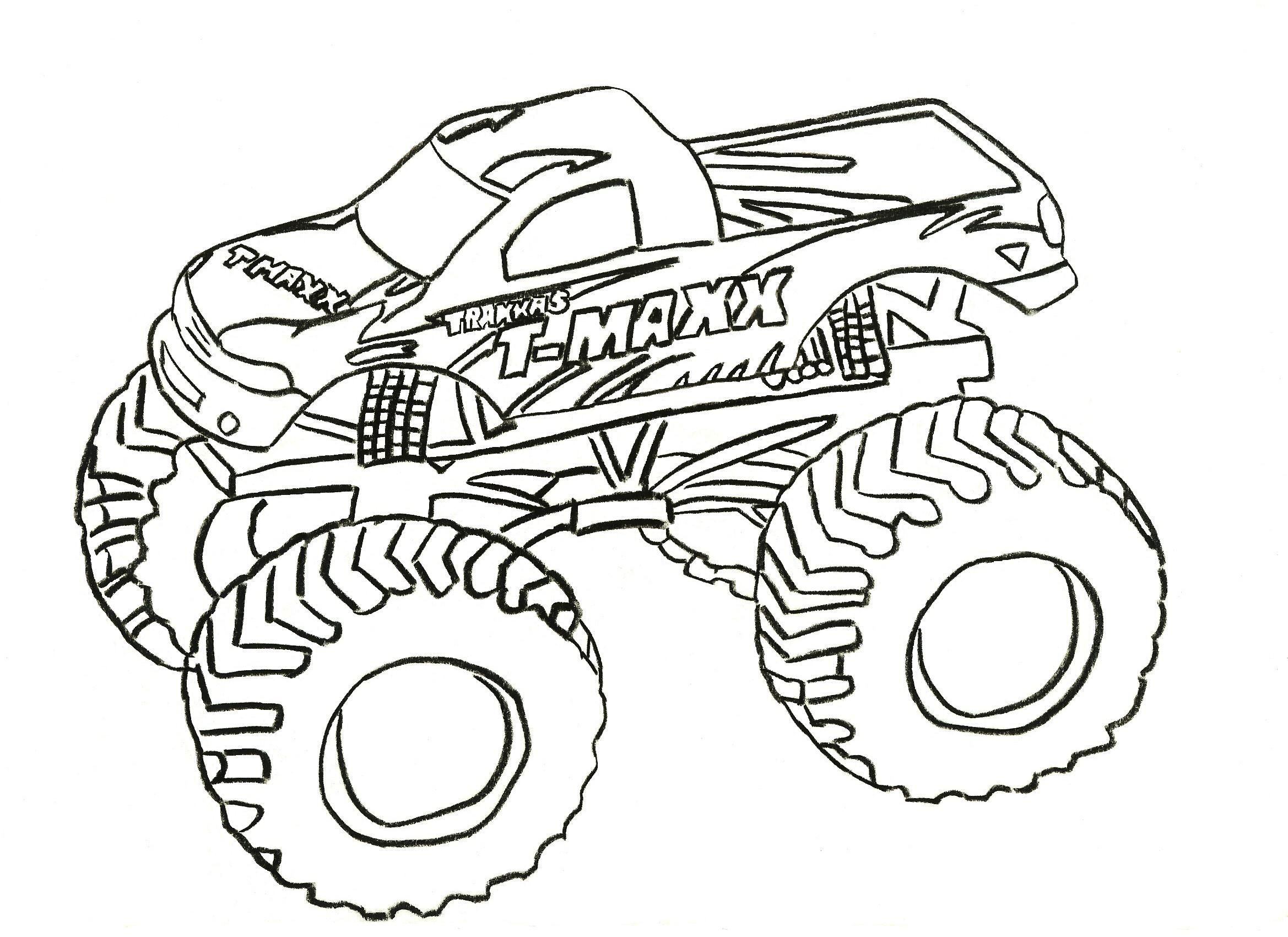 Monster Truck Coloring Pages Monster Truck Coloring Pages ganzes Monstertruck Malvorlage