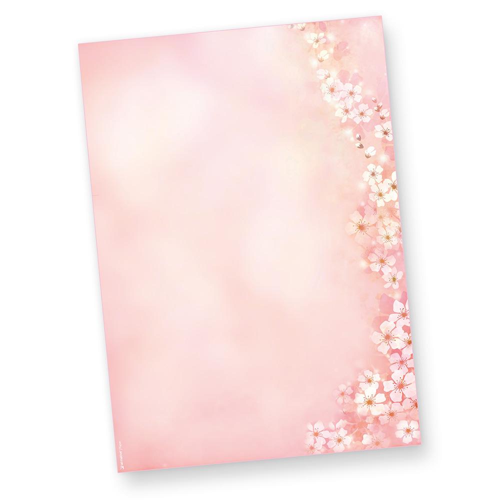 Motivpapier Frühling Kirschblüten 500 Blatt Briefpapier bei Briefpapier Vorlagen Kostenlos