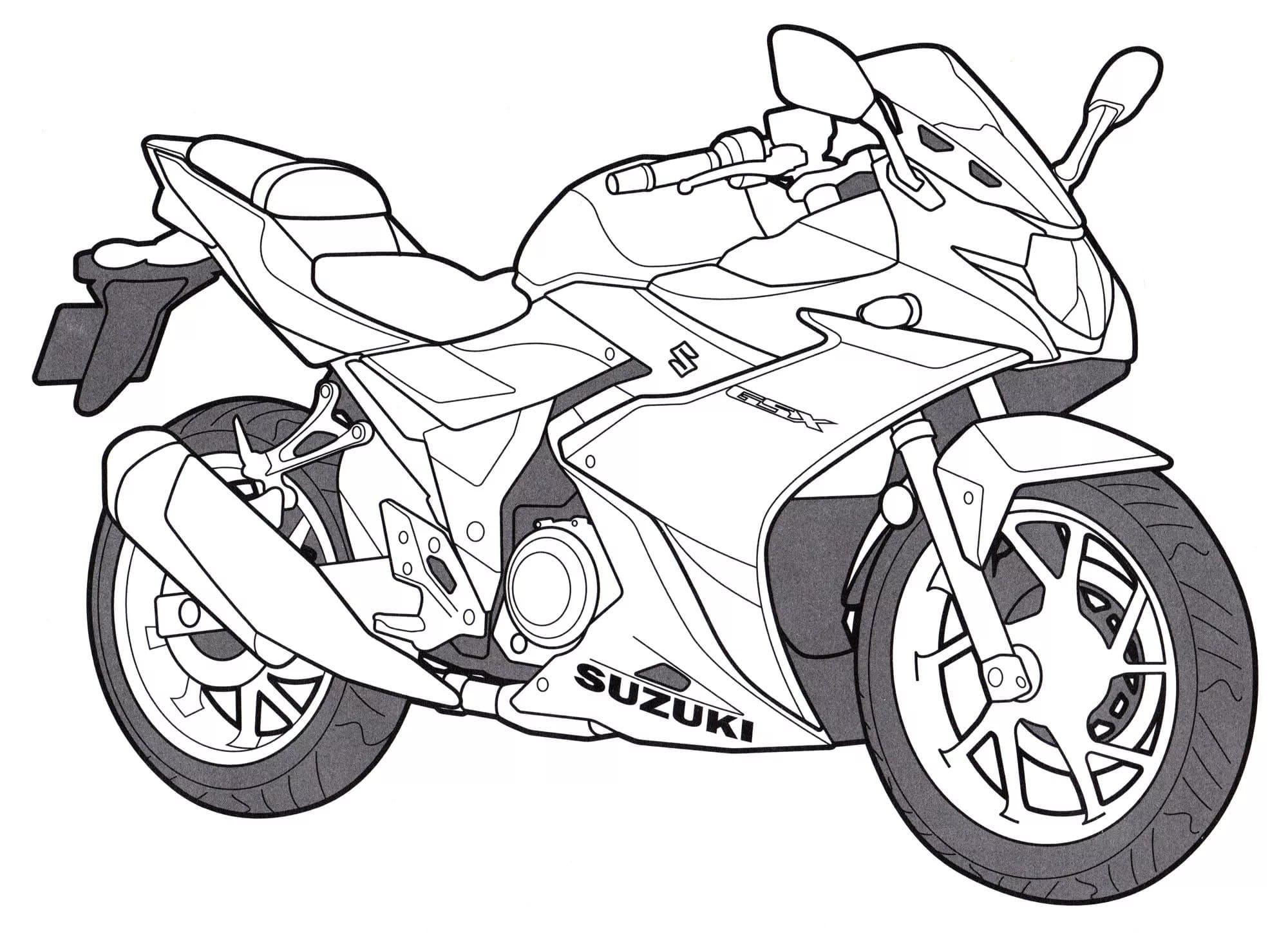 Motorrad Ausmalbilder. Besten Malvorlagen Zum Drucken ganzes Motorrad Ausmalbilder