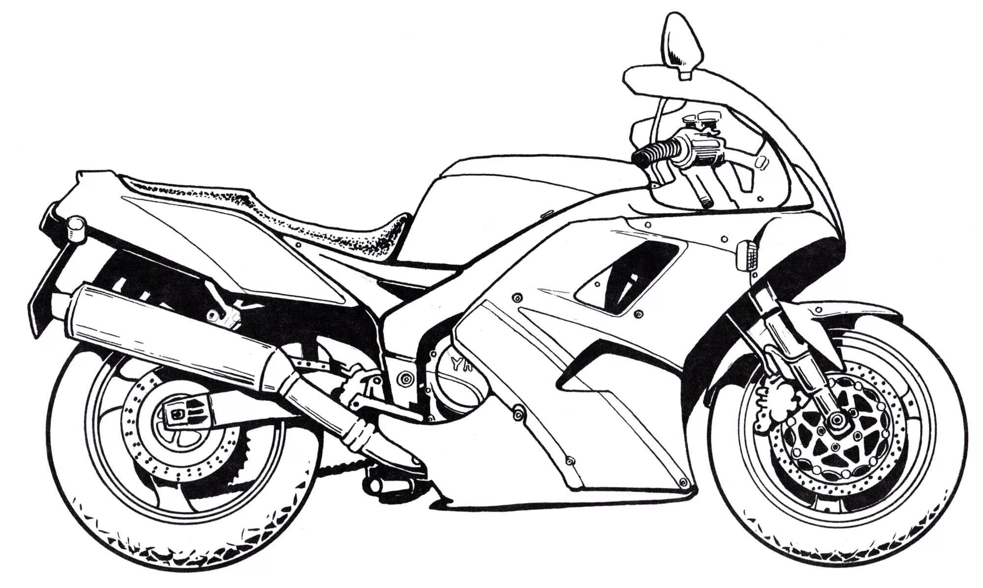 Motorrad Ausmalbilder. Besten Malvorlagen Zum Drucken in Motorrad Ausmalbilder