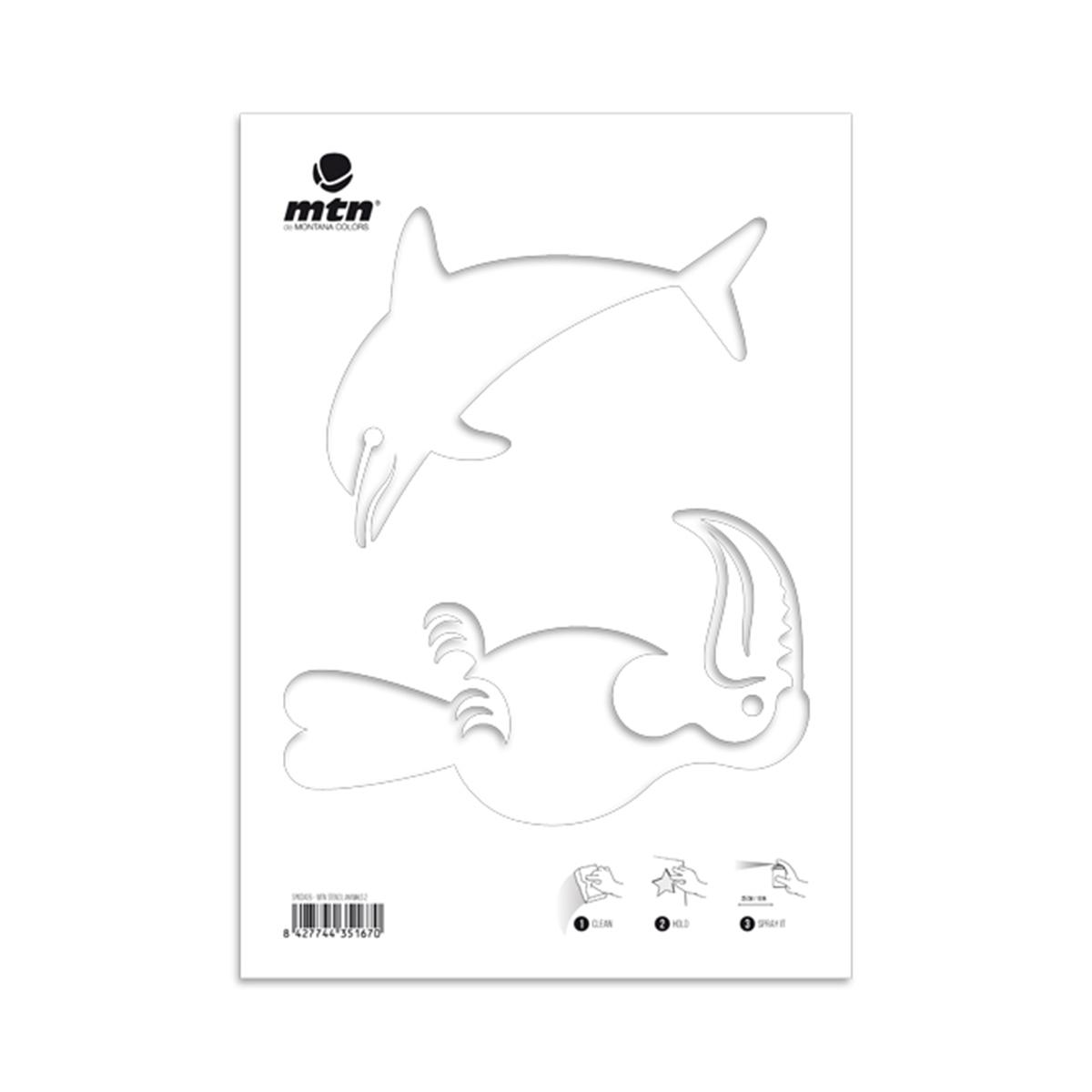 """Mtn Schablone """"delfin/papagei"""" in Delfin Schablone"""