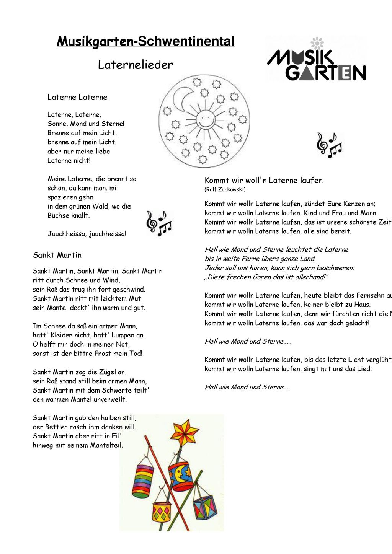 Musikgarten-Schwentinental - Ppt Herunterladen bei Laterne Sonne Mond Und Sterne Text