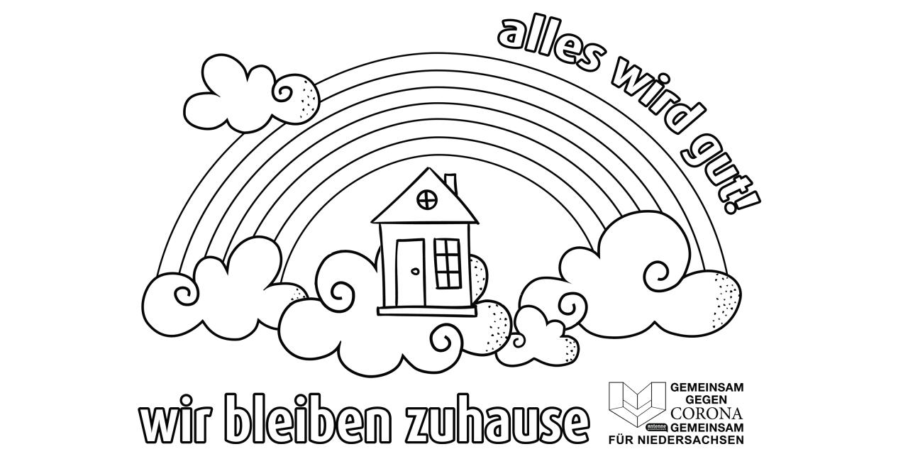Mut Machen Mit Malaktion Für Kinder   Antenne Niedersachsen bei Regenbogen Ausmalbild