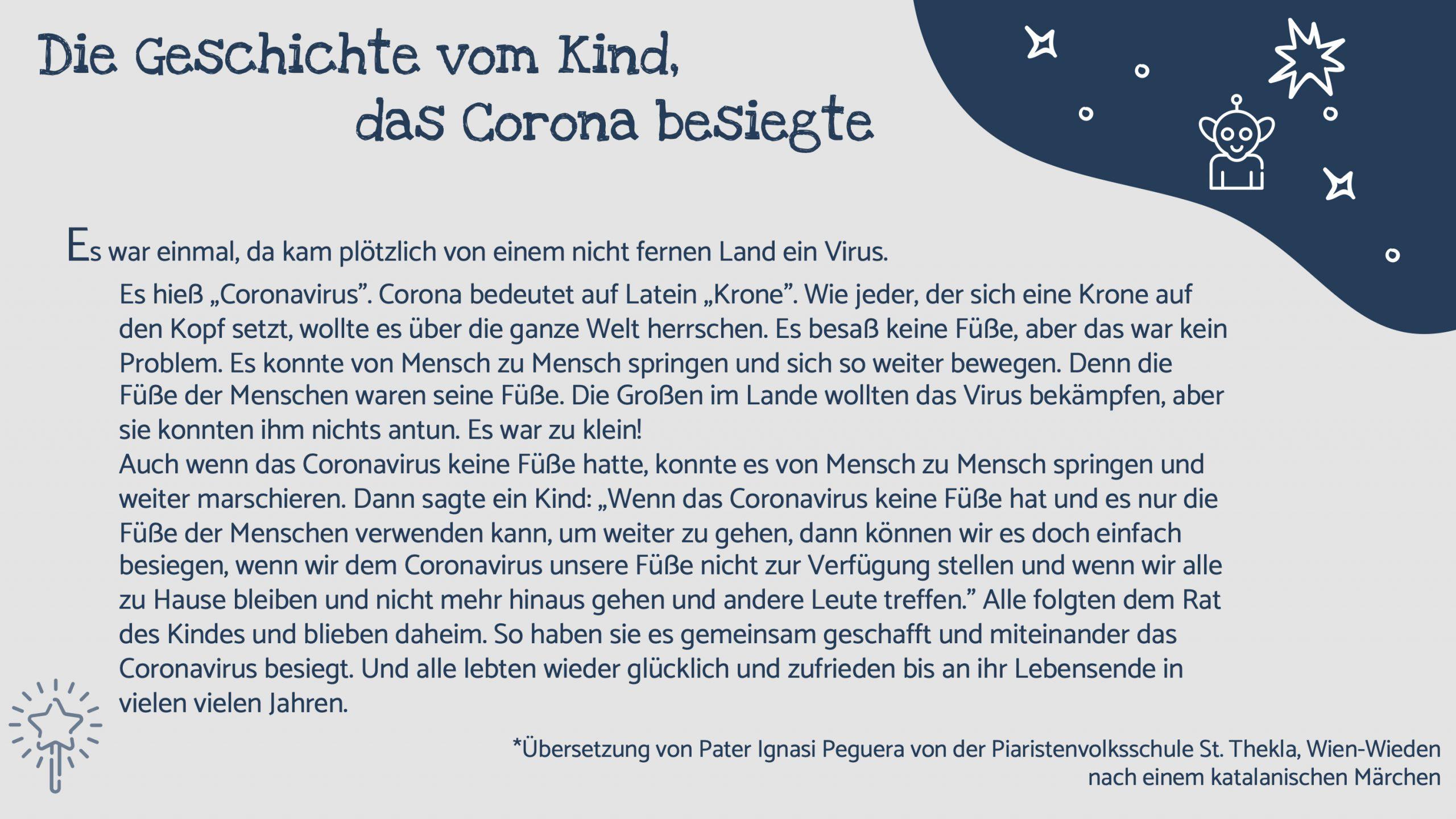 Mutmachgeschichte: Die Geschichte Vom Kind, Das Corona bestimmt für Geschichten Für Kinder Zum Vorlesen