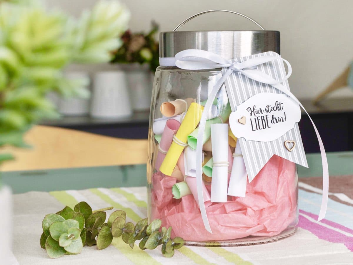 Muttertag Geschenk - Das Komplimente-Glas Zum Muttertag in Geburtstagsgeschenk Mama Selber Machen
