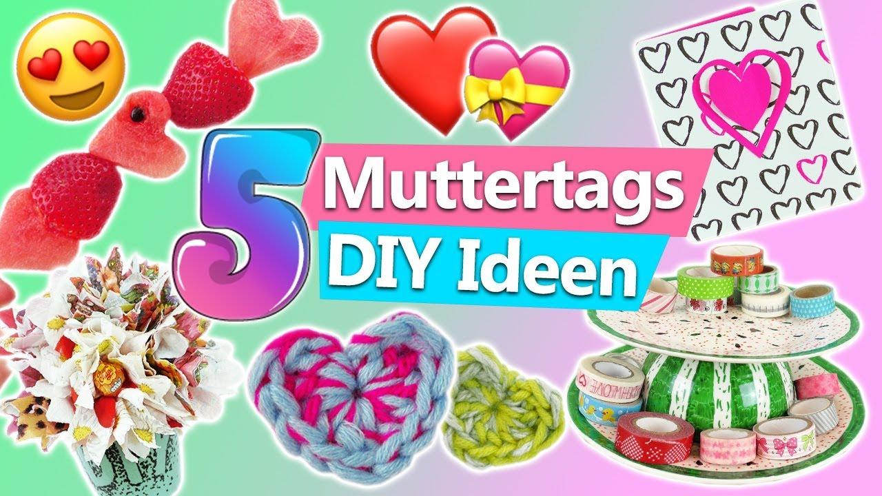 Muttertagsgeschenke 5 Muttertag Diy Ideen Zum Selber Machen Muttertagskarte  Basteln, Foto Deko, Herz bei Muttertagsgeschenke Selber Machen Schnell