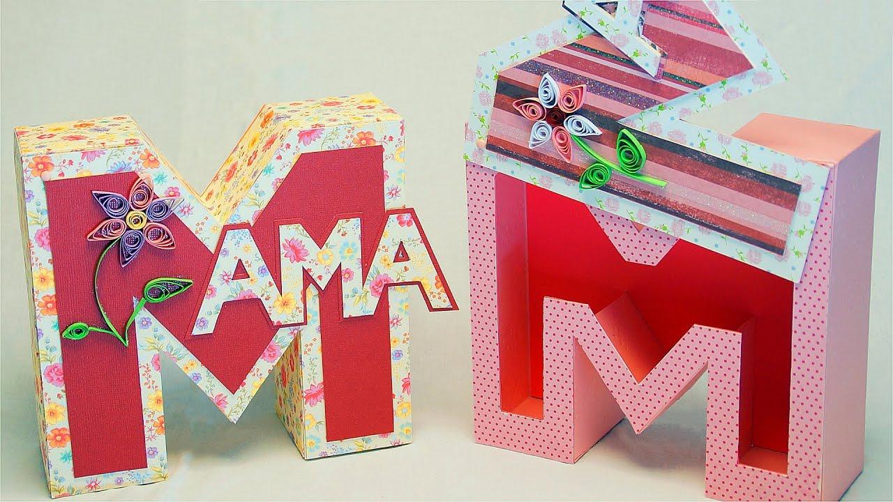 Muttertagsgeschenke Basteln: Mama Geschenkbox / Buchstabenbox Zum Muttertag  Basteln in Was Kann Man Zum Muttertag Machen
