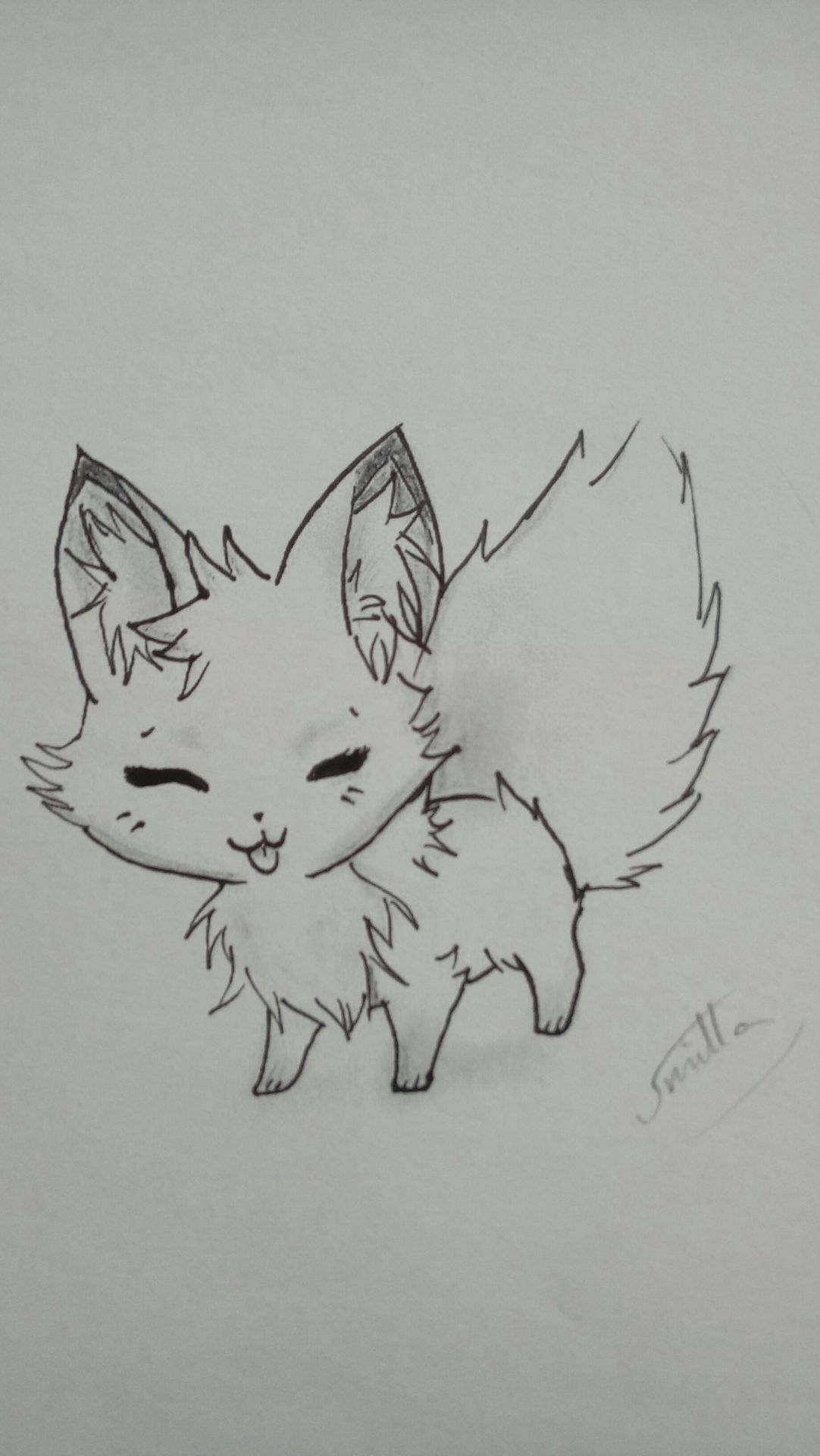 My Art ~ - Chibi Fuchs 🐺 😆 - Wattpad bestimmt für Manga Tiere