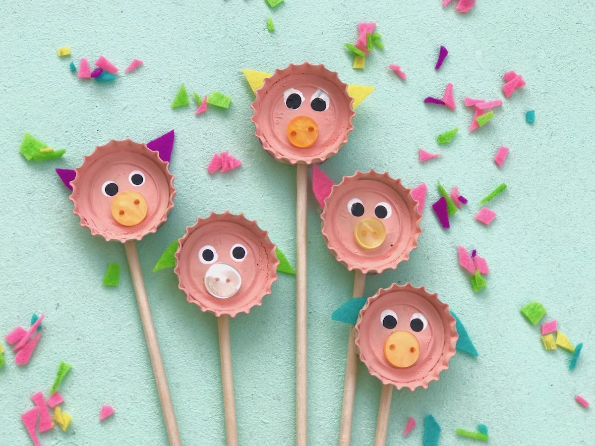 Nachhaltige Party Deko Aus Kronkorken Selber Machen - verwandt mit Einfache Bastelideen Zum Kindergeburtstag
