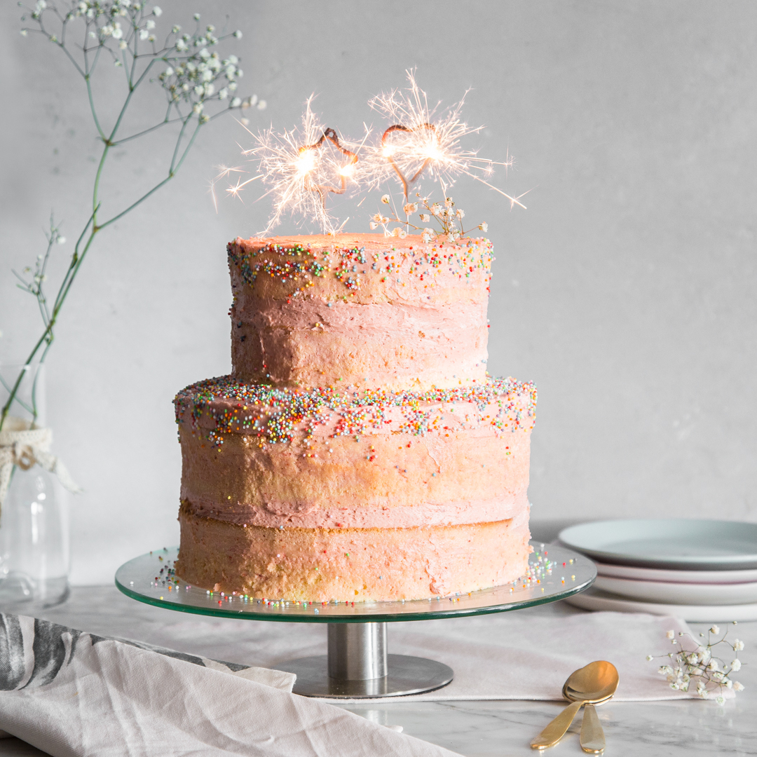 Naked Geburtstagstorte für Wunderkerzen Für Torten