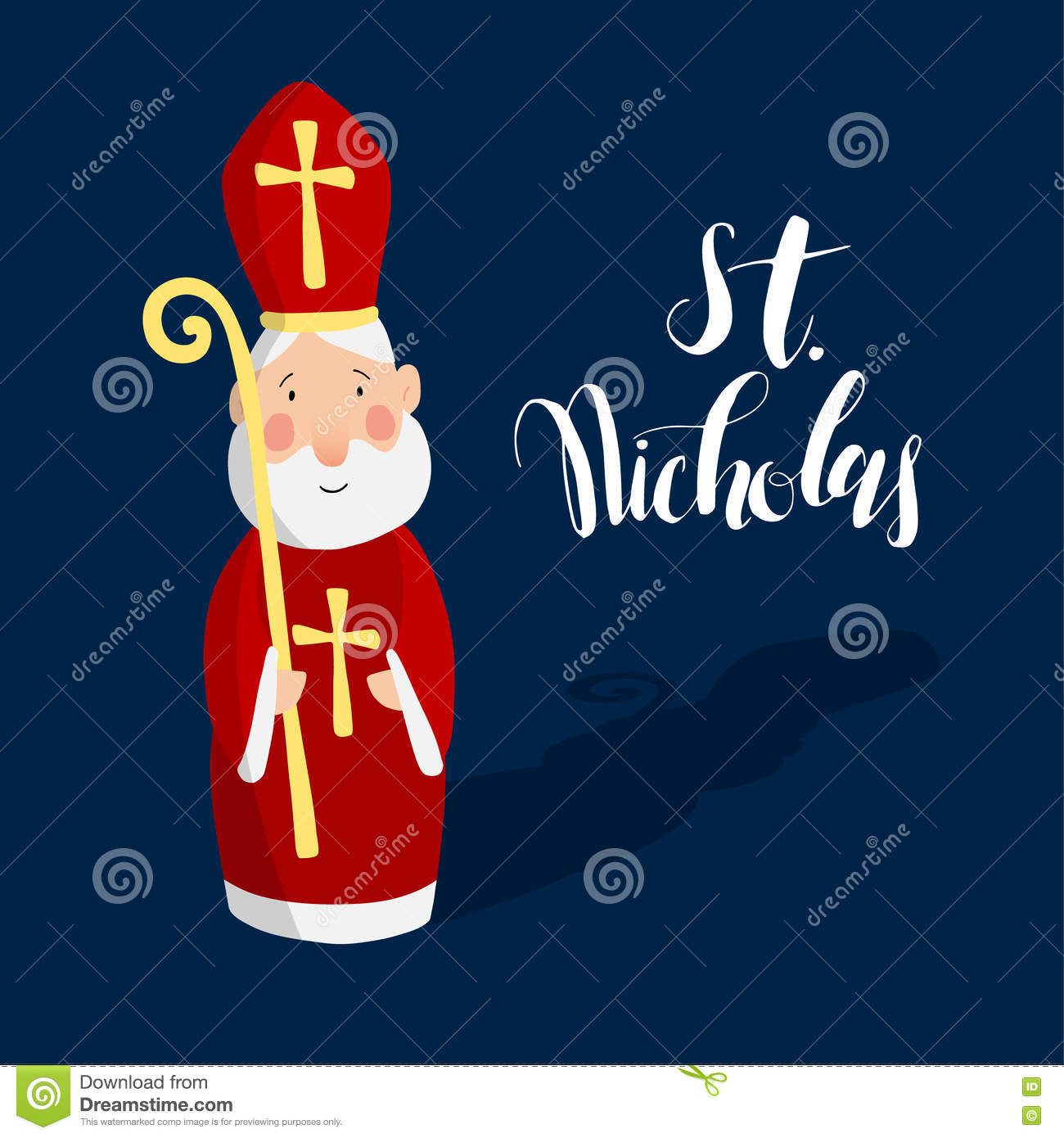 Nette Grußkarte Mit Sankt Nikolaus Vektor Abbildung über Nikolaus Grußkarte