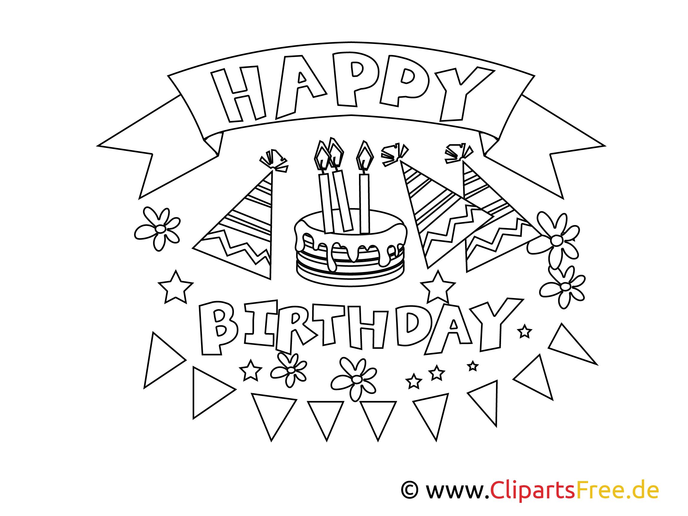 Neu Ausmalbilder Happy Birthday | Ausmalbilder, Ausmalen bestimmt für Happy Birthday Ausmalbilder Kostenlos