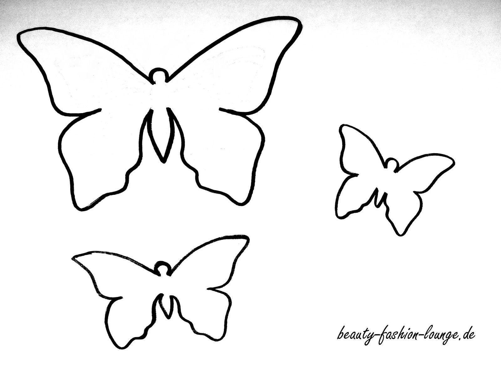 Neu Schmetterling Vorlagen In 2020 (Mit Bildern innen Vorlagen Schmetterling