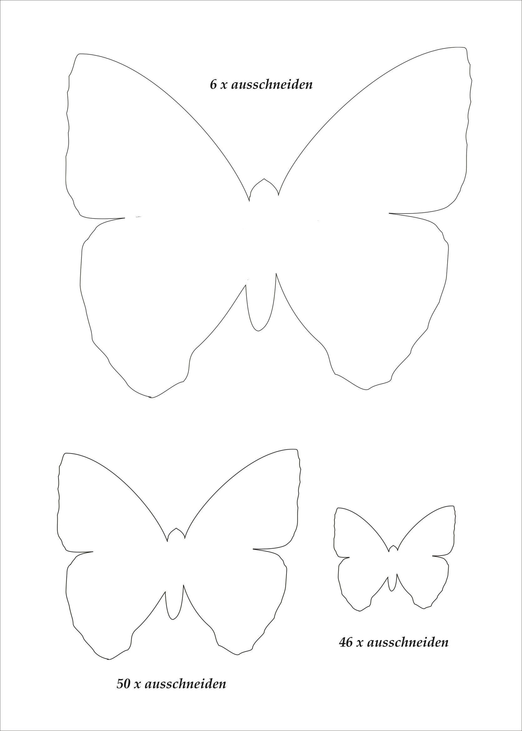 Neu Schmetterling Vorlagen In 2020 | Schmetterling Vorlage innen Schmetterlinge Vorlagen