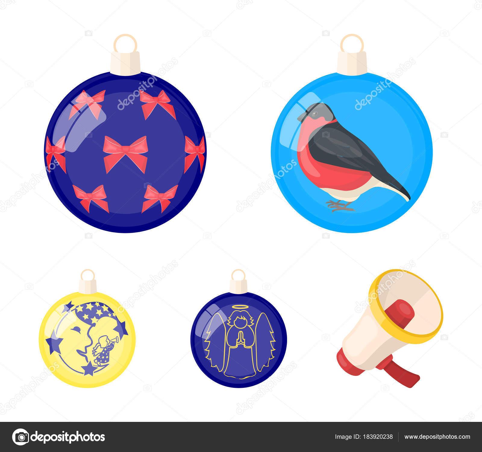 Neue Jahre Spielzeug Comic-Ikonen Im Set Sammlung Für Design bei Weihnachtskugeln Comic