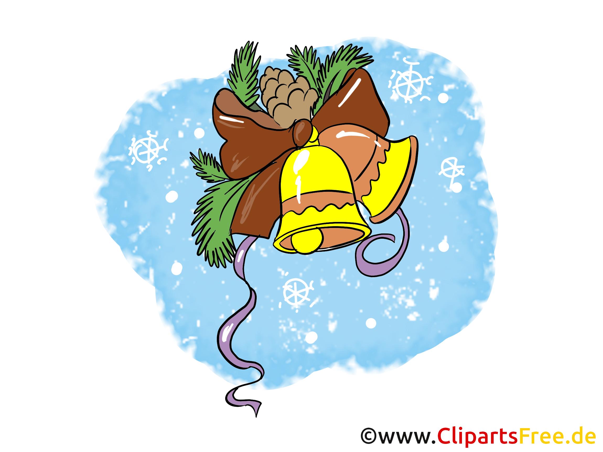 Neujahr Und Weihnachten Gloeckchen Clipart, Bild, Cartoon Gratis innen Cliparts Weihnachten Und Neujahr Kostenlos