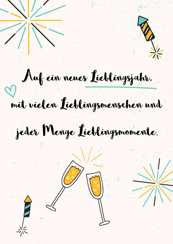 Neujahrsgrüße » Kreative Neujahrswünsche Zum Download (Mit mit Glückwünsche Zu Silvester Neujahr