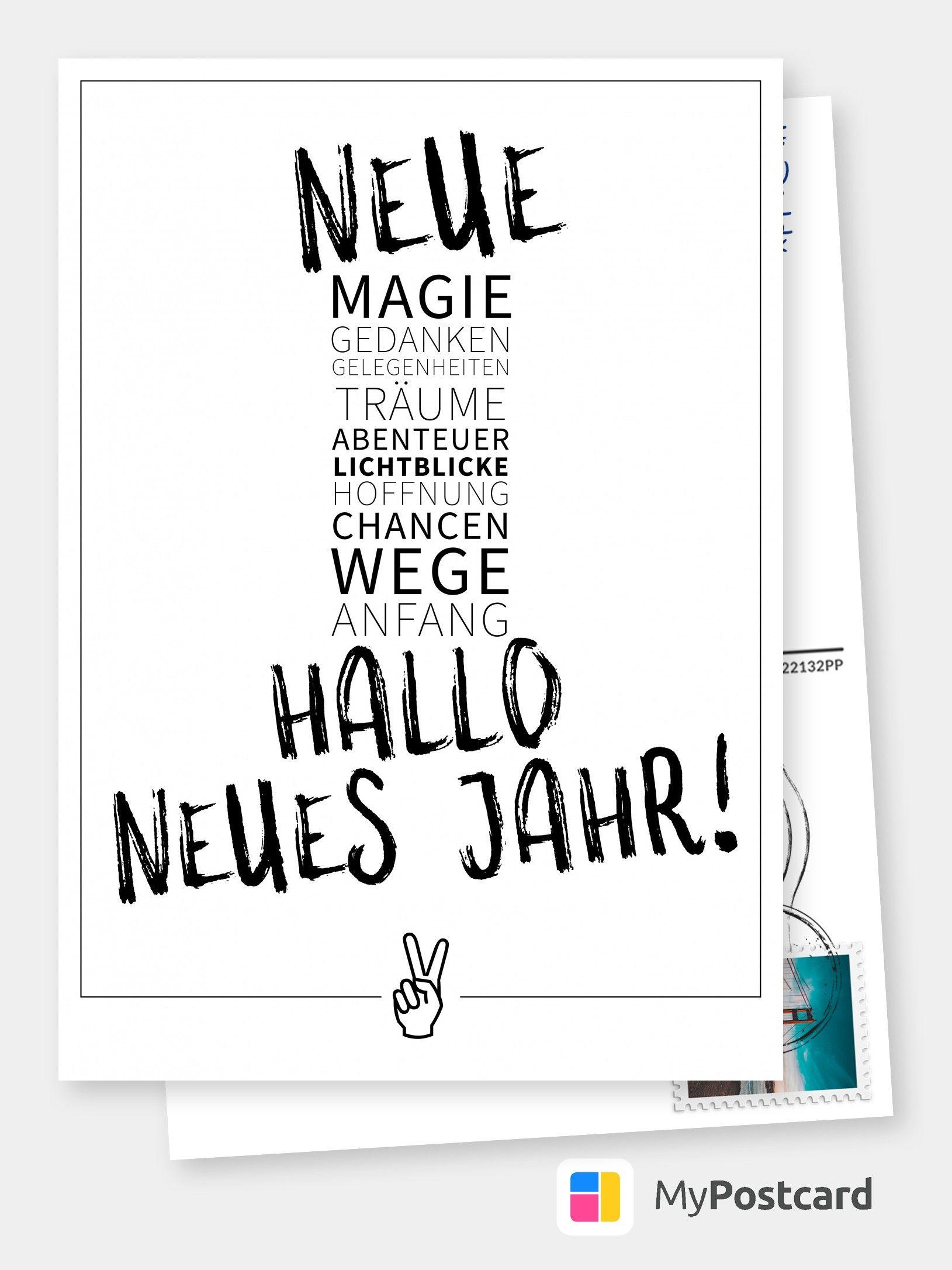 Neujahrswünsche - Neue Magie   Frohes Neues Jahr in Neujahrswünsche Karten