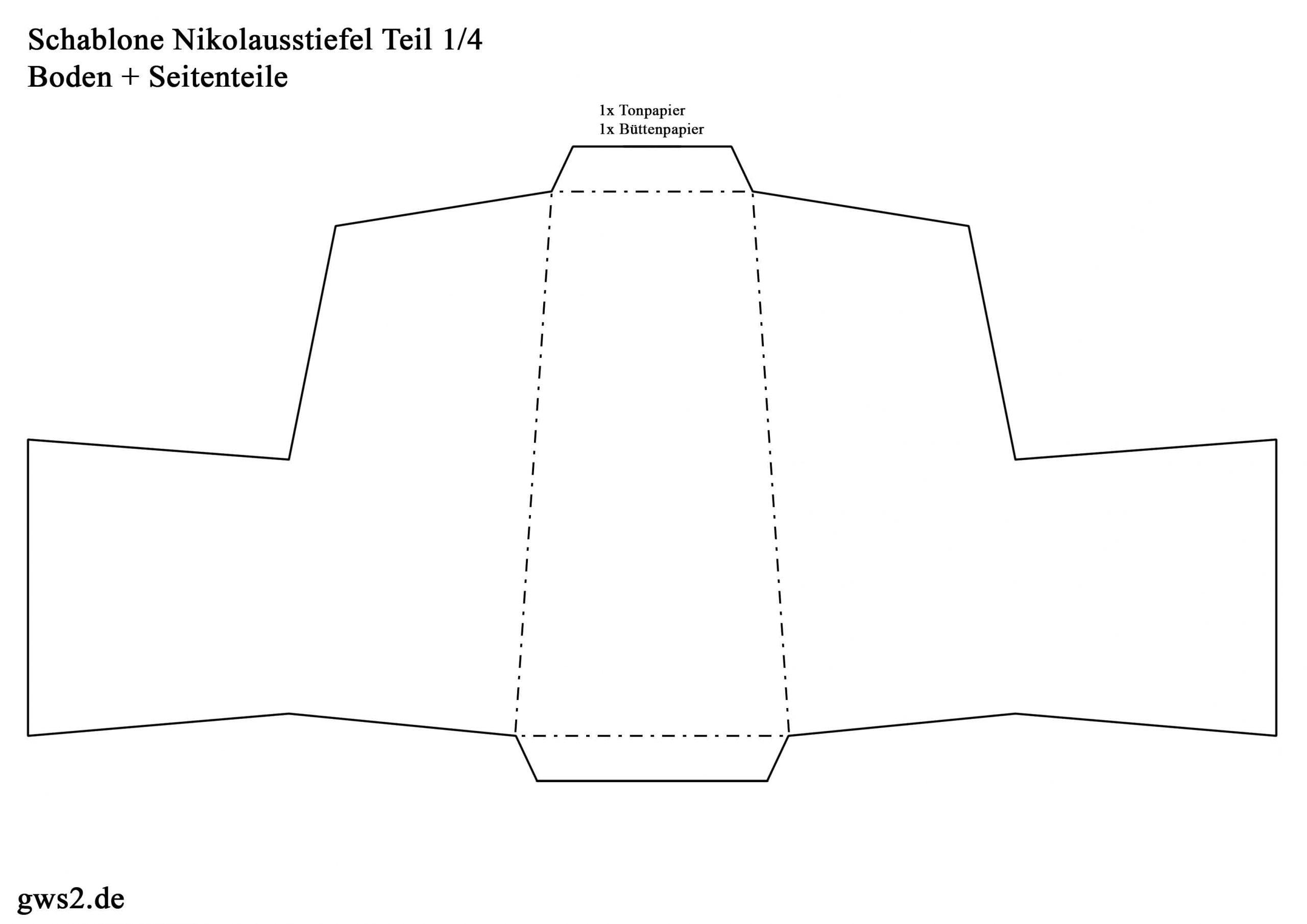Nikolaus: Stiefel Aus Papier Basteln - Verpackung Für bei Bastelvorlage Nikolausstiefel