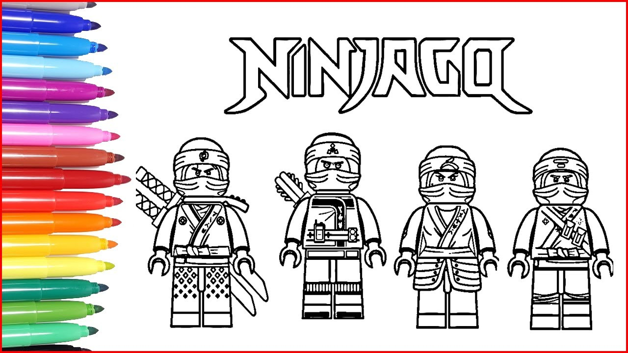 Ninjago Coloring Pages | How To Draw Lego Ninjago | Learn Colors Funny  Drawing über Ninjago Malen
