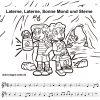 Noten Und Text Laterne, Laterne Zum Ausdrucken Und Ausmalen in Laterne Sonne Mond Und Sterne Text