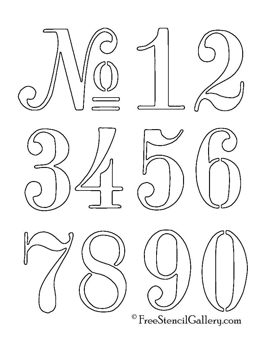 Numbers Stencil (Mit Bildern) | Stencil Lettering, Druckbare ganzes Zahlenschablonen Zum Ausdrucken Kostenlos
