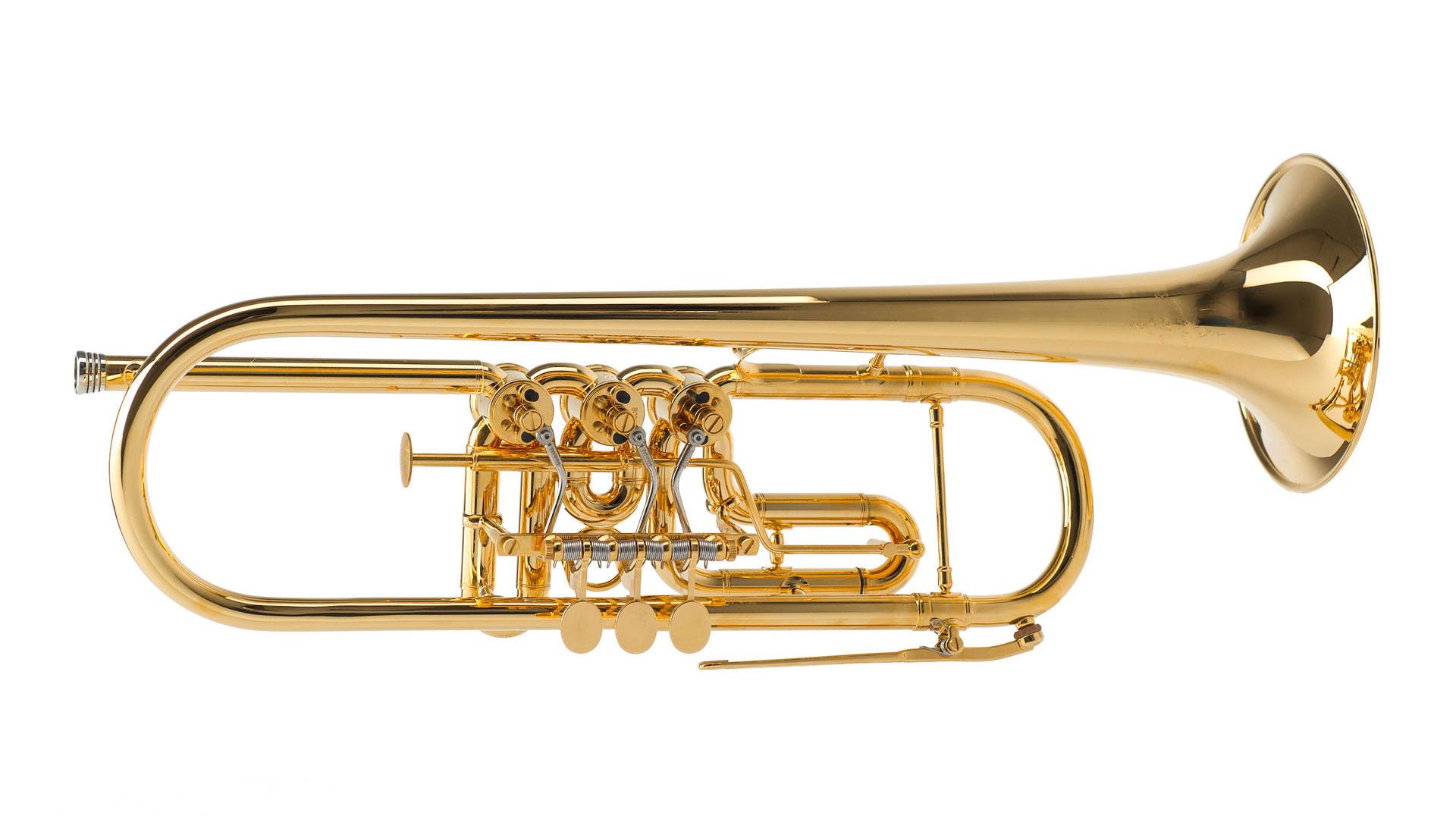 Oberrauch B-Trompete -Überetsch 11,20-, Vergoldet in Trompete Bilder