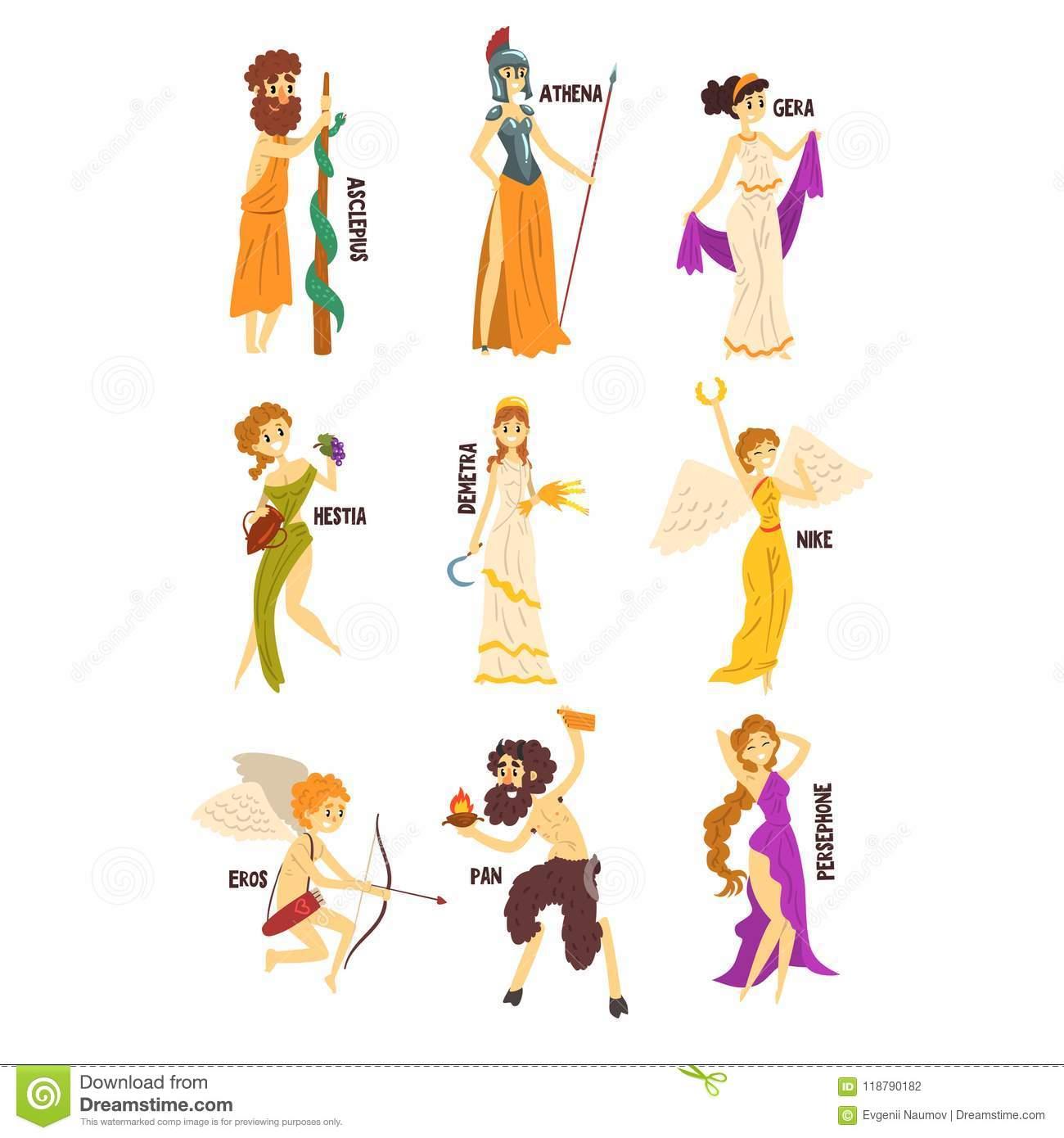 Olympische Griechische Götter Stellten, Persephone, Nike über Griechische Götter Bilder Und Namen