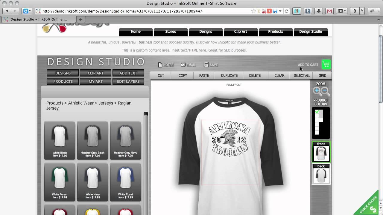 Online T-Shirt Designer Software | T-Shirt Designs Software Tool bei Shirt Designer Online
