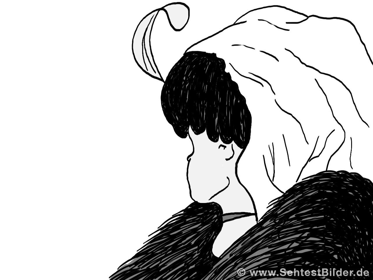 Optische Täuschung: Alte Frau Oder Junge Frau? - Sehtestbilder mit Optische Täuschung Bild