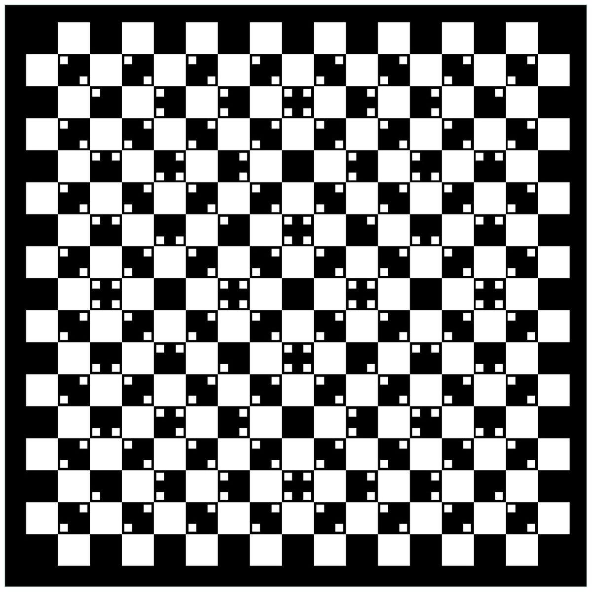 Optische Täuschung - Illusion - Schwarz Weiß 60 X 60 Cm bestimmt für Optische Täuschung Bild