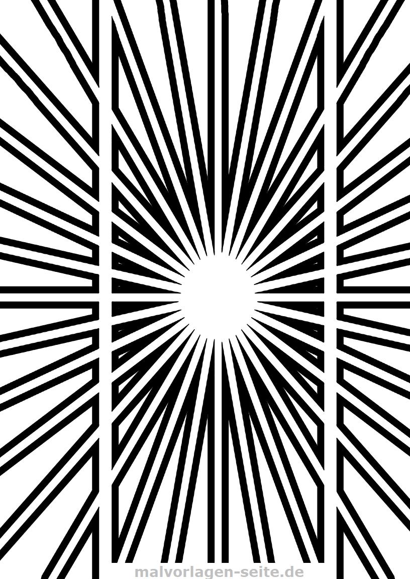 Optische Täuschung - Parallel Oder Nicht - Ausmalbilder innen Optische Täuschungen Zum Selber Machen